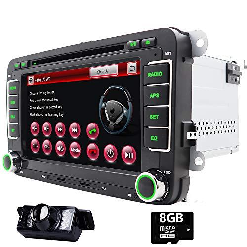 7 pulgadas 2 Din en Dash Auto Radio DVD para VW Volkswagen Golf Passat Polo Jetta Tiguan EOS Touran Scirocco Skoda Seat de CD navegación GPS USB SD FM AM RDS Radio Bluetooth SWC Mirro Link Canbus