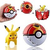 Pokéball Pokemon,Pokebola Pikachu Bola De Pokemon Pikachu,LKNBIF Poké Ball Poké Ball Pokemon Pokebola Pokebola Con Pokemon Pokemon Bola Regalos Para Niños 8cmx7cmx6cm