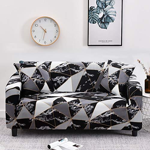 WXQY Funda de sofá geométrica elástica Funda de sofá elástica, Utilizada para la sección de la Sala de Estar, Funda de sofá, Funda de Esquina, Funda de sofá A33 de 2 plazas