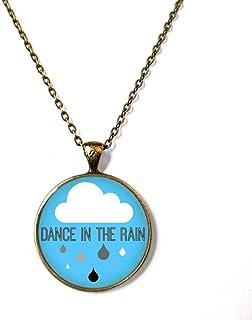 Dance in The rain Cute Rain Cloud Necklace