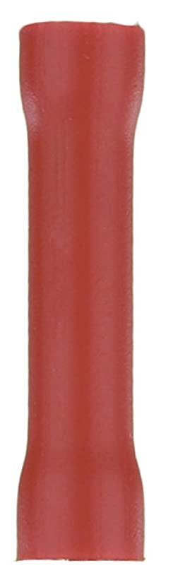 ゼロ待つモーターベイRVBCビニールバットコネクタ-Redをインストールします。 22から18ゲージ。 100 Pkを
