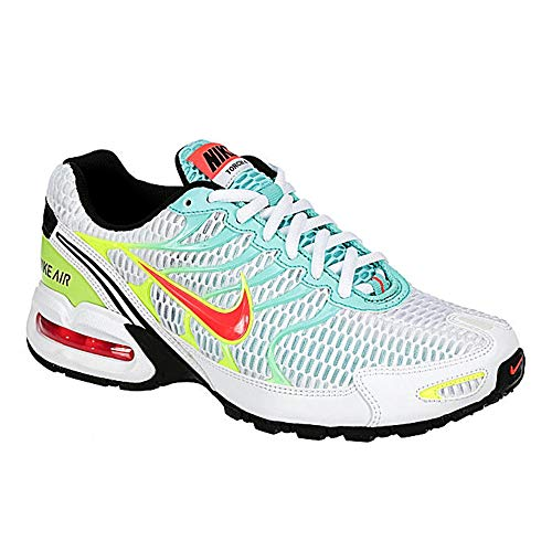 Nike Womens Air Max Torch 4 Running Shoe (8, White/Black-Volt-Laser Crimson)