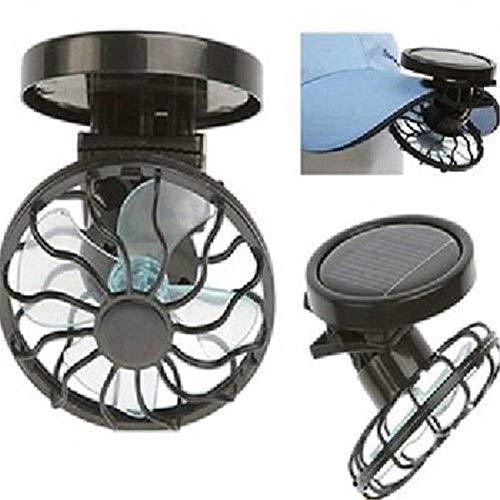 redcolourful Solarbetriebener Ventilator, tragbarer Mini-Solarventilator mit Clip, für den Sommer, energiesparender Ventilator für Hut