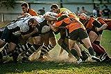 UUJJF Puzzle Puzzle pour Adultes Bois Jigsaw Puzzles Jeu Cadeau Accueil Sports Équipe Football Rugby Lieu de Sport Rugby League Tackle Rugby Player -Wooden 1000 pièces