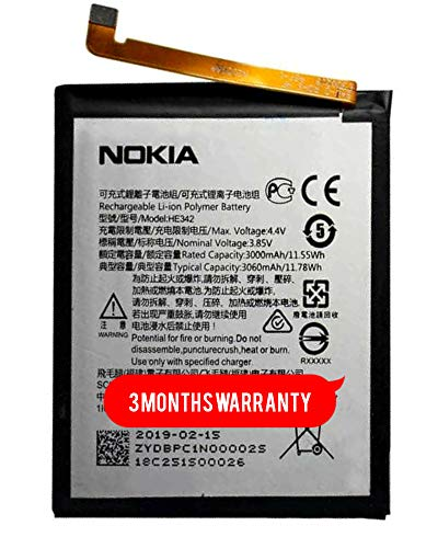 HE342 for Nokia 6.1 Plus Battery Original 5.1 Plus Nokia X6 2018 TA-1099 / X5 TA-1109