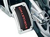 Kuryakyn 9251 Motorcycle Accent Accessory: Curved License Plate Holder and Frame with LED Illumination Lighting, Vertical Side Mount, Chrome