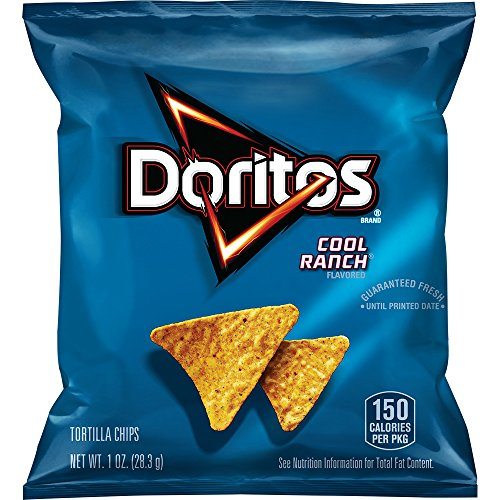 Doritos Cool Ranch Flavored Tortilla Chips (Pack of 40 single serve)