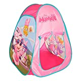 Disney - Tienda Pop Up infantil para niños Niñas Disney Casitas infantiles tela Juguetes para niños 3 años Carpa plegable con bolsa de transporte Minnie Plegable y Automontable