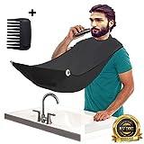 Delantal para barba con capucha, para hombre, ideal como regalo para afeitarse o para acostarse, con peine de plantilla