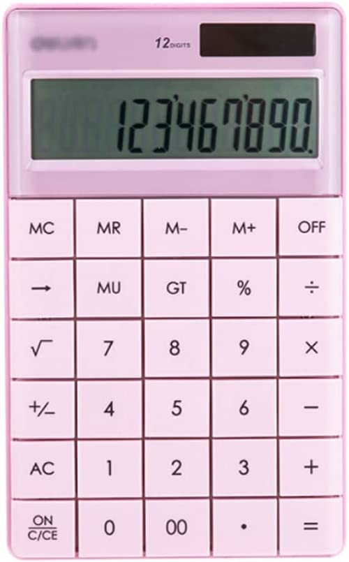 LEGU Calculators Calculator Office Home Electronics Dual Powered Desktop Color Button Calculator Solar Power 12 Digits LCD Display 6.4x4in Basic Caculator