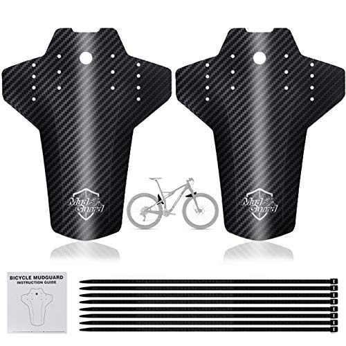 Mountainbike Mudguard Set, Front and Rear Marsh Guard,Mountain Bicycle Splash Guard MTB Mudguards für die meisten Fahrräder,2PCS