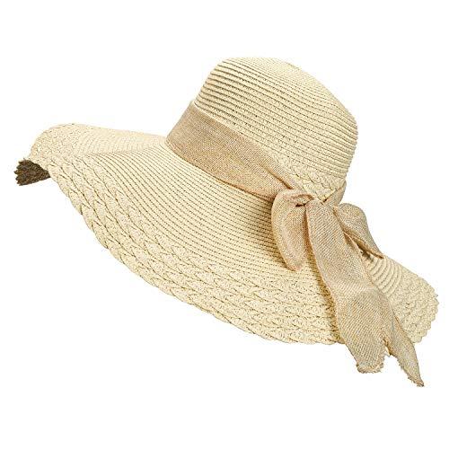 Tencoz Sombreros de Paja para Mujer, Sombrero Panamá Mujer Sombrero de Playa...