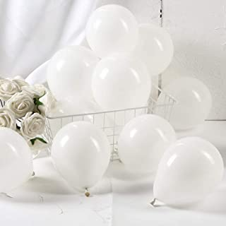 GAKA 5 Inch White Balloons White Small Helium Balloons Mini White Latex Balloons Party Decorations Supplies,Pack of 100