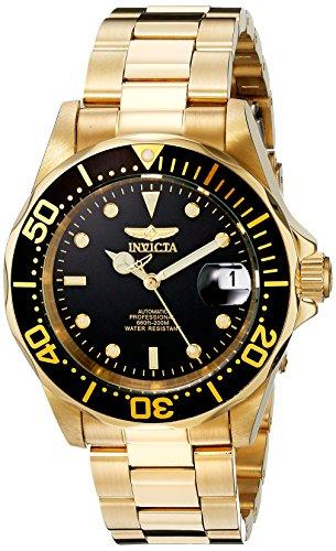 Invicta 8929 Pro Diver Reloj Unisex acero inoxidable Automático, Negro/Dorado