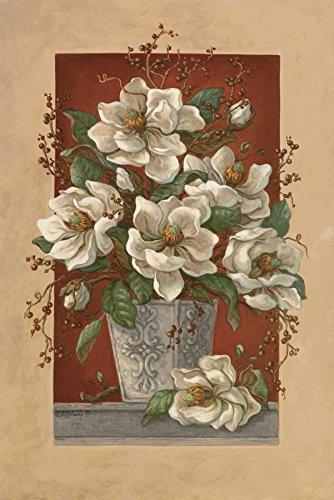 The Poster Corp Janet Kruskamp – Magnolias En Rouge Kunstdruck (60,96 x 91,44 cm)