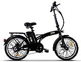 the one Bicicletta Elettrica Pieghevole A Pedalata Assistita 20' 250w Easy Matt Black, Nera Unisex adulto, no size