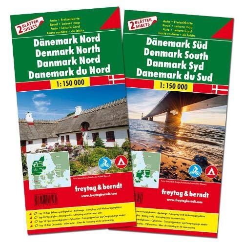 F&B Denemarken Noord en Zuid, set 2 kaarten: Set wegenkaarten 1:150 000