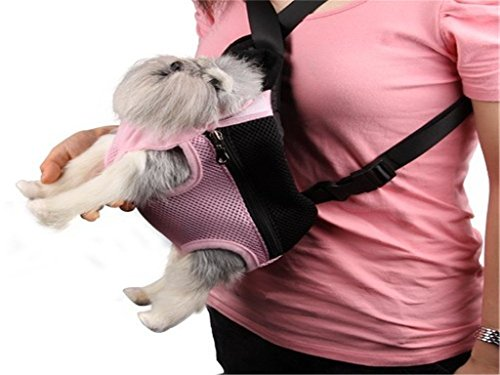 Fengh Lovely Chat Chien Voyage avant Sac de filet de transport (Rose)