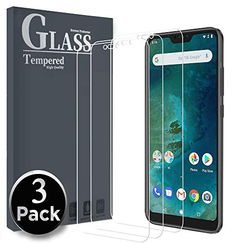 Ferilinso Cristal Templado para Xiaomi Mi A2 Lite, [3 Pack] Protector de Pantalla Screen Protector para Xiaomi Mi A2 Lite
