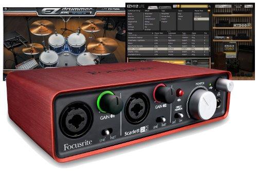 Focusrite Scarlett 2i2 Ultimate Studio Bundle with Toontrack EZmix 2 Lite and EZdrummer Lite