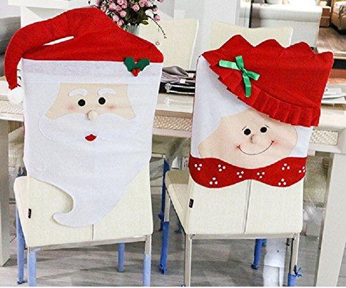 OAMORE Lot de 2 Housses de Noël pour décoration de Noël