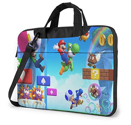 14 Inch Laptop Bag Super Mario Laptop Shoulder Bag Shoulder Messenger Bag Case Sleeve, Laptop Sleeve Travel Bag for Women and Men