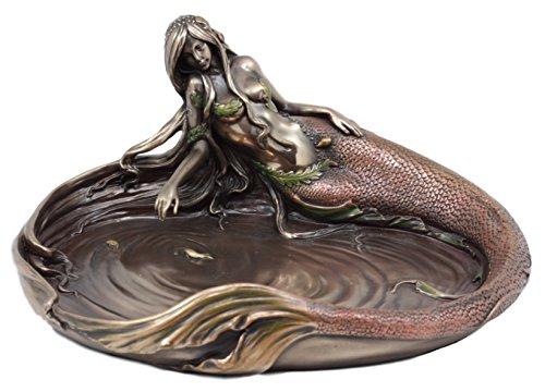 Ebros Gift Large Sea Nymph's Pond Mermaid Jewelry Dish Figurine 10