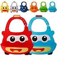 2-Pack Sunspeed Silicone Baby Bibs for Babies & Toddlers
