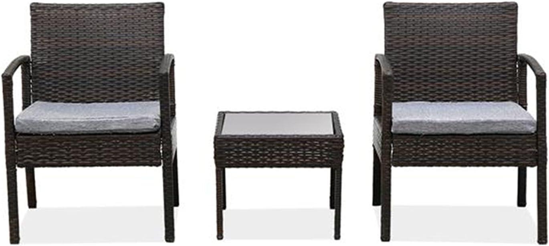 XUXIN specialty shop Patio Porch Furniture Sets 3 Rattan Chair Pieces Bargain Wicker PE