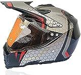 Casco de Motocross, Casco de Motocross para Hombres, Cara Completa MTB Casco Downhill Set Cumple con la certificación de Seguridad (Size : M:(56~57cm))