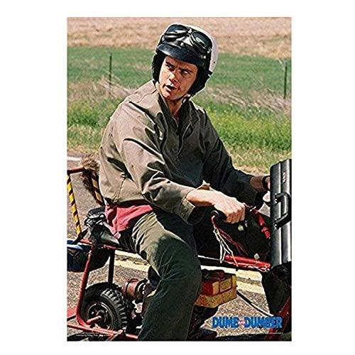 Qqwer Dumb And Dumber - Lloyd On Motor Bike Scooter Movie Posters E Impresiones En Lienzo Arte De La Pared Pintura Imágenes Decoración Para El Hogar -50X70Cmx1Pcs -Sin Marco