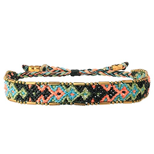 C·QUAN CHI Mix Farbe handgefertigte geflochtene Armband Fancy Design Samen Perlen Armbänder Frauen böhmischen Modeschmuck