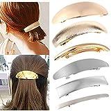 Mendom 6 Pcs Shining Metal Spring Hair Clips, Elegant French Design...
