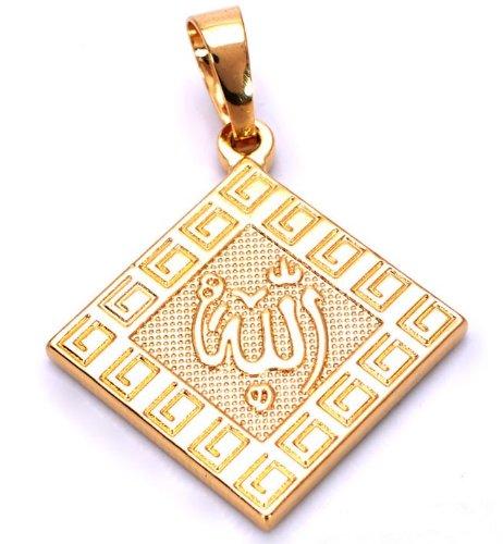 Mooi Naam Van Allah In Arabische Ketting En Moslim Hanger