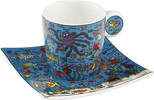 Goebel Under the Deep Blue Sea - Espressotasse Pop Art James Rizzi Bunt Fine Bone China 26102401