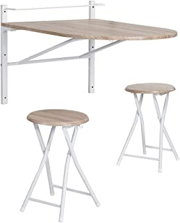 comprar comparacion Innovareds Mesa de madera abatible de pared plegable Mesa de comedor y mesa de comedor plegable Mesa de desayuno plegable ...