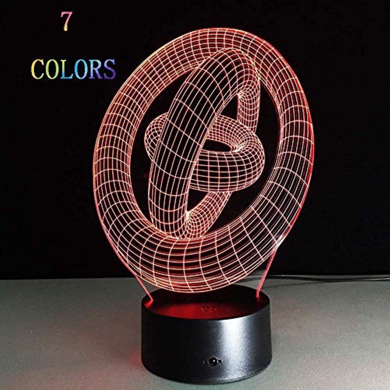 WOZUIMEI Nachtlicht 3D Leuchtende Visuelle Beleuchtung 7 Farbwechsel USB Akku Stromversorgung Touch     Touch Konsole Licht Schnes Geschenk Home Decor,
