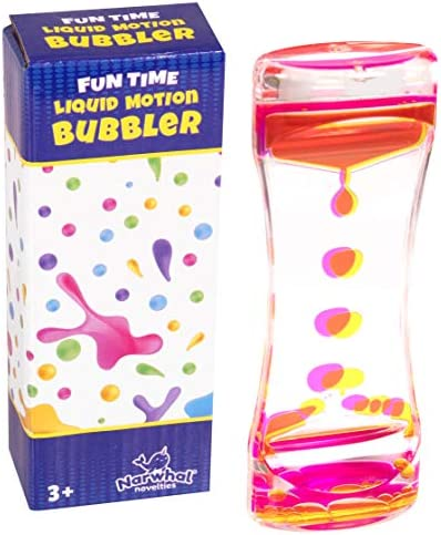 Narwhal Novelties Liquid Motion Bubbler for Kids and Adults Hourglass Liquid Bubbler Timer for product image