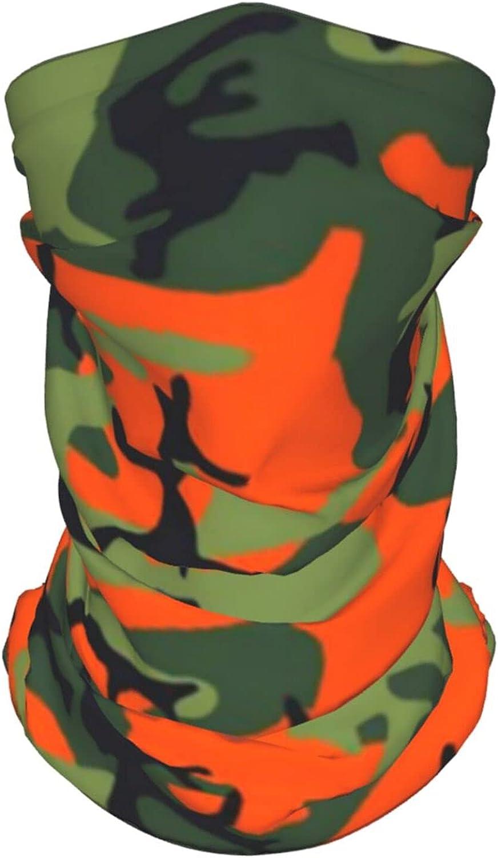 Camouflage Greem (1) Neck Gaiter Multipurpose Headwear Ice Silk Mask Scarf Summer Cool Breathable Outdoor Sport 4 Pcs