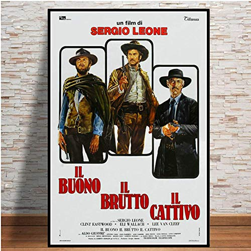 zaishuiyifang Clint Eastwood A Fistful of Dollars Classic Movie Wall Art Picture Poster and Canvas Prints Home Decor Unframed Affiche A1268(40X50Cm)