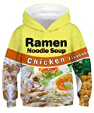 GLUDEAR Child Activity Sports Hoodie Long Sleeve 3D Funny Printed Sweatshirt Pullover Birthday Gift,Chicken Noodles,8-11 Years