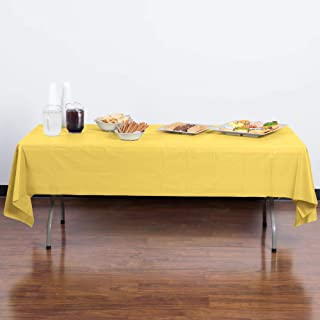 Creative Converting Mimosa Plastic Tablecover, Yellow