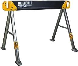 ToughBuilt - Folding Sawhorse/Jobsite Table - Sturdy, Durable, Lightweight, Heavy-Duty, 100% High Grade Steel, 41.5-Inch, Easy Carry Handle (TB-C550)