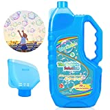 Bloranda Bubble Solution Refill (Up to 3 Gallon) Concentrated Giant Bubble Liquid 40 Ounce with Easy Pour Funnel, Suitable for Bubble Machine, Bubble Gun, Giant Bubble Wand