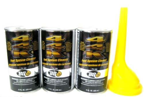 3 Pack Bg 44k Fuel System Cleaner w/ Bg Funnel - 3...