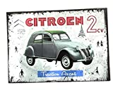 udc Editions du sud Plaque Vintage décorative cartonnée Citroen 2CV 12x17cm