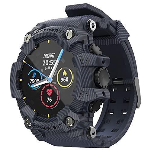 balikha Smart Watch 1.28'Relojes de Pantalla con Modos Deportivos Múltiples IP68 para Hombres Verde - Azul