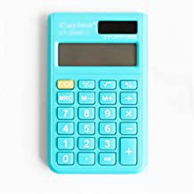 $22 » Electronic Calculators 8-Digit LCD Large Display Dual Power Standard Function Solar Calculator Home, Office (Color : Blue)