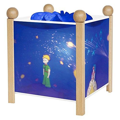 Trousselier - Der kleine Prinz - Nachtlicht - Magische Laterne - Ideales Geburtsgeschenk - Farbe Holz natur - animierte Bilder - beruhigendes Licht - 12V 10W Glühbirne inklusive - EU Stecker