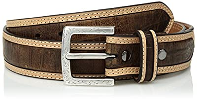 Ariat Unisex-Adult's Double Stitch Edge Casual Belt, brown, 36